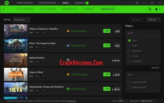 Razer Cortex Game Booster Serial Key