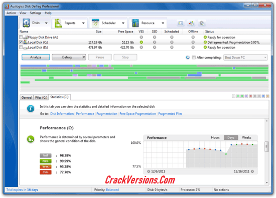 Auslogics Disk Defrag PRO Serial Key