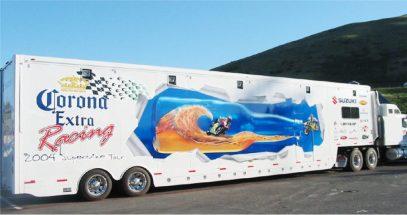 Image of trailer wrap illustrates blog: The Value of Fleet Wraps