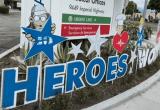Heroes Work Here Sign