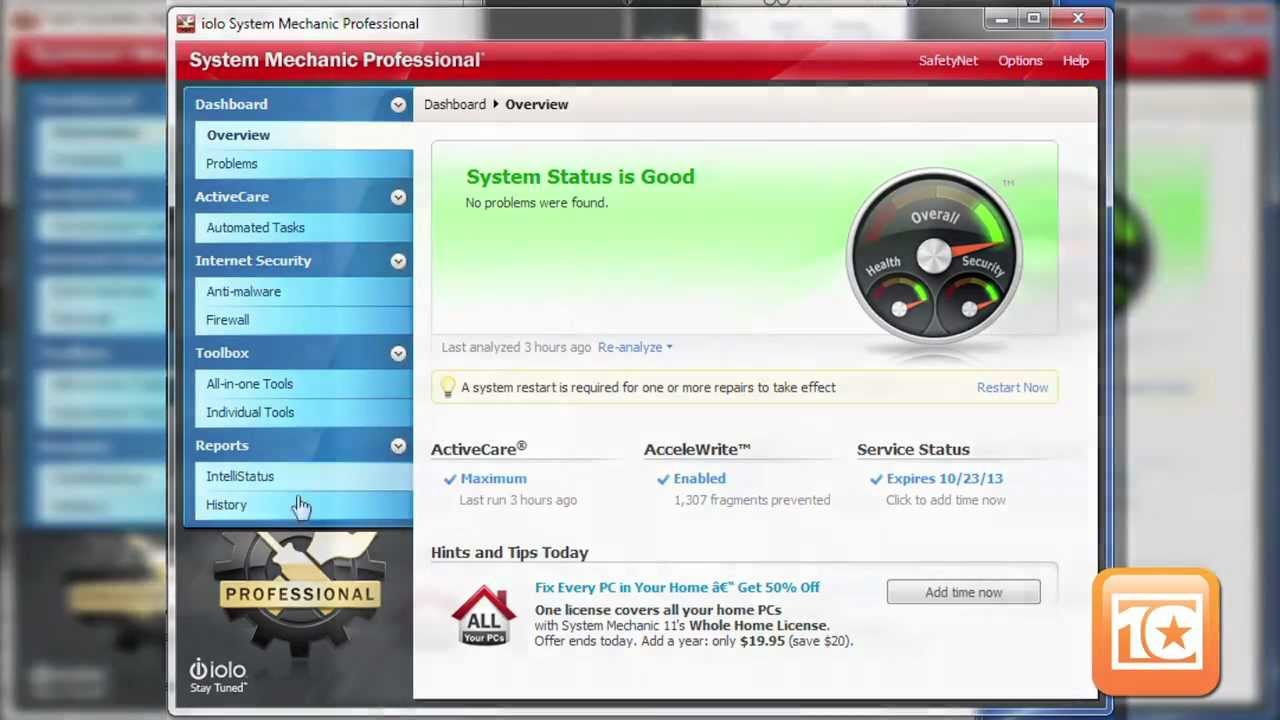 system mechanic free download with serial number