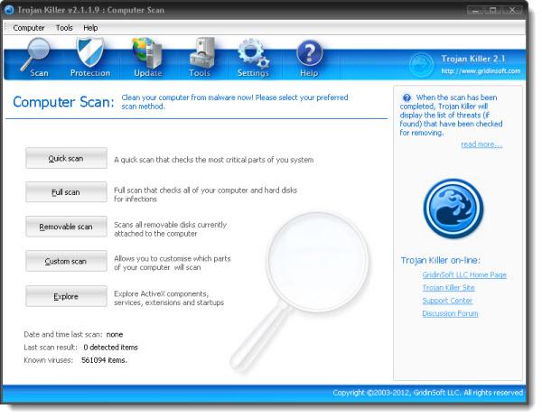 Trojan Killer Key Features