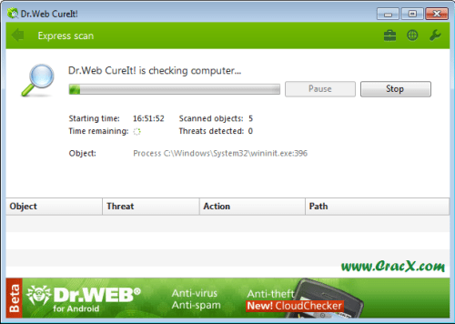 Dr.Web CureIt Free Download for Windows XP Full Verison