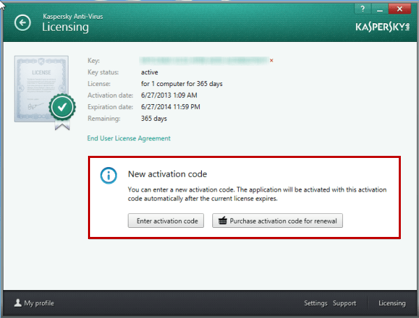 kaspersky antivirus activation code crack