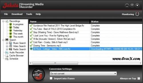Jaksta Streaming Media Recorder Crack + Key Full Download