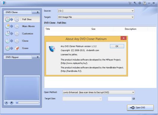 Any DVD Cloner Platinum 1.3 Keygen + Crack Full Download