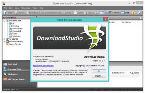 Conceiva Download Studio 7.0.5.0 Crack Full Free Version