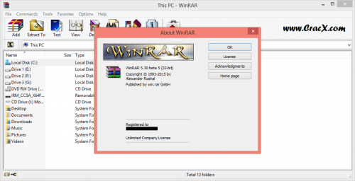 WinRAR 5.30 Beta 5 Keygen + License Key Patch Free Download