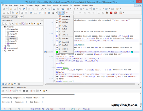 Winedt software
