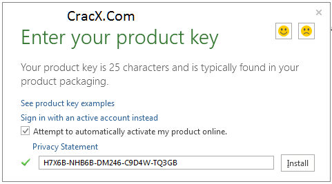 office 365 using key