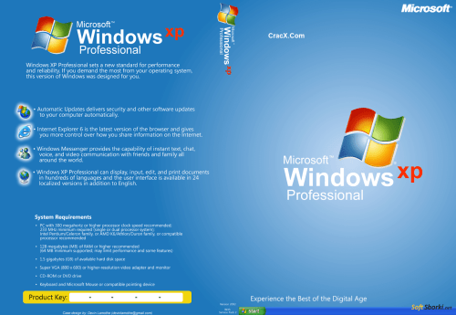 Windows XP ISO SP3 64bit + 32bit Highly Compressed Download
