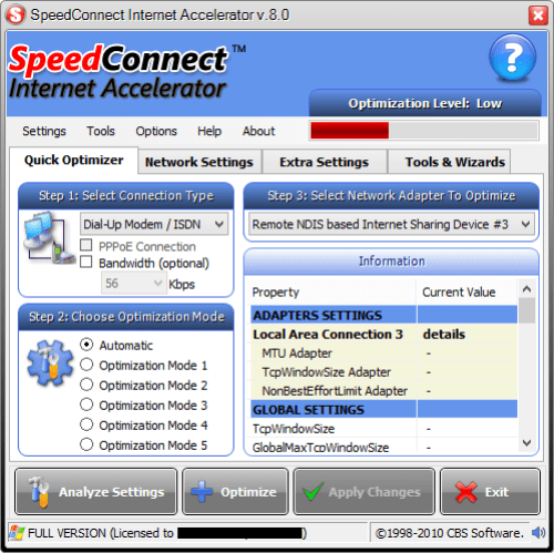 SpeedConnect Internet Accelerator 8.0 Crack, Keygen Free