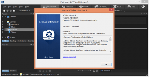 ACDSee Ultimate 9.3 License Key + Crack Free Download