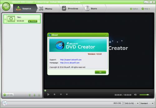 iSkysoft DVD Creator 4 License Key & Crack Free Download