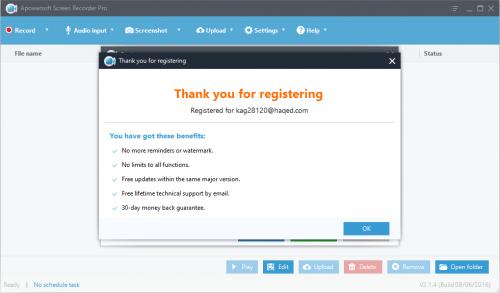 Apowersoft Screen Recorder Pro 2.1.4 Keygen + License Key Download