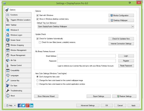 DisplayFusion Pro 8 Crack Patch