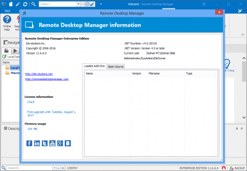 Remote Desktop Manager Enterprise 11.6.6.0 Key Free Download