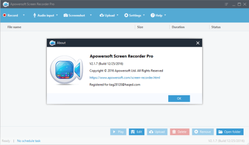Apowersoft Screen Recorder Pro 2.1.7 Patch & Keygen Download