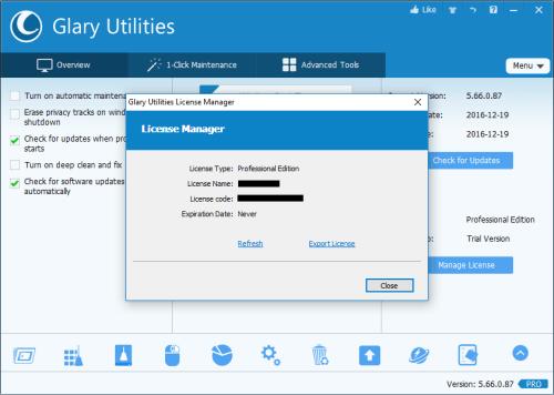 Glary Utilities Pro 5.66.0.87 Keygen + Crack Free Download