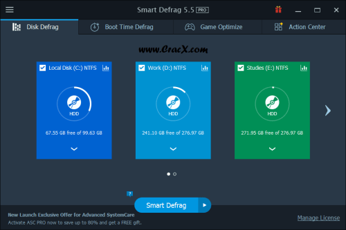 IObit Smart Defrag 5.5.0.1024 Serial key & Patch Download