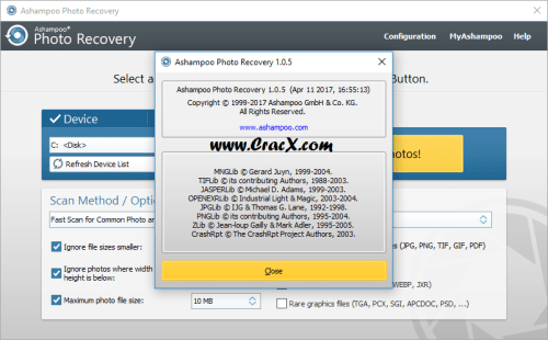 Ashampoo Photo Recovery 1.0.5.234 Serial Key Full Download