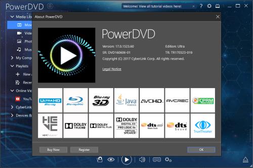 CyberLink PowerDVD Ultra 17.0.1523.60 Full Keygen & Patch Download