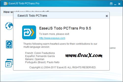 EaseUS Todo PCTrans Pro 9.5 Crack Patch & Keygen Download