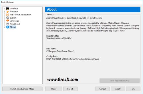 Zoom Player Max 13.0 Keygen & Crack Free Download