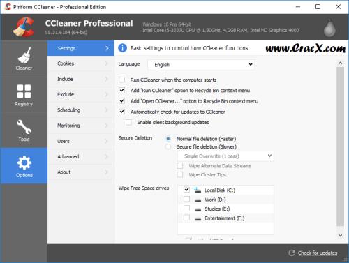 CCleaner Pro 5.31 License Key & Activator Download