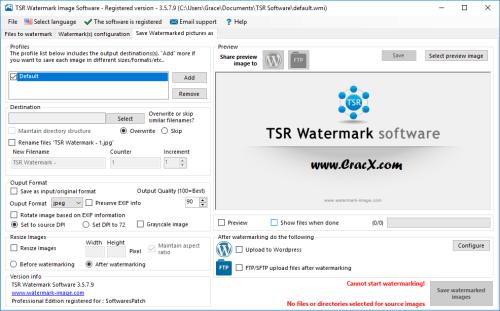 TSR Watermark Image Pro 3.5.7.9 Crack & License Key Download