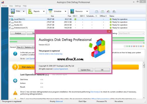 Auslogics Disk Defrag Professional 4.8.2 + Keygen Free Download