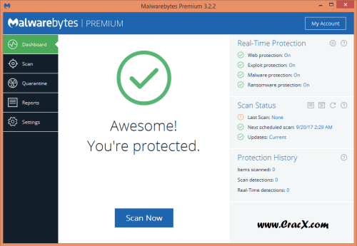Malwarebytes Premium 3.2.2.2029 Crack + License Key Download