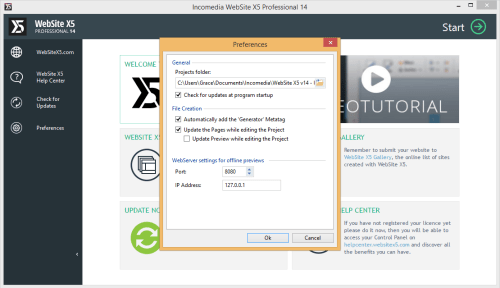 WebSite X5 Professional 14.0.1.1 License Key + Patch Download