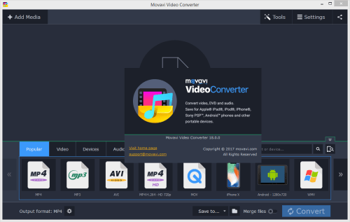 Movavi Video Converter 18.0.0 Crack & Activator Download