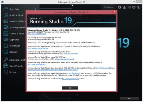 Ashampoo Burning Studio 19 {2018} License Key Download