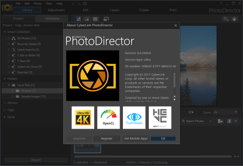 CyberLink PhotoDirector Ultra 9.0.2504.0 Keygen Free Download