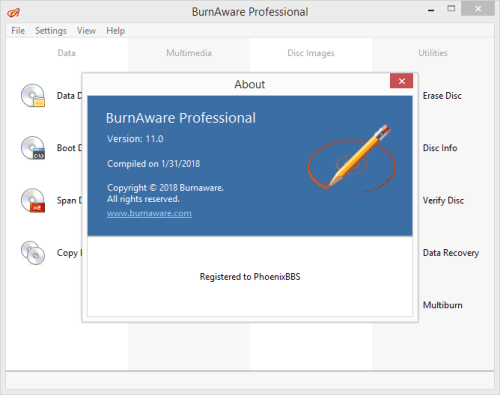 BurnAware Professional 11 Patch & License Key {2018} Full Version