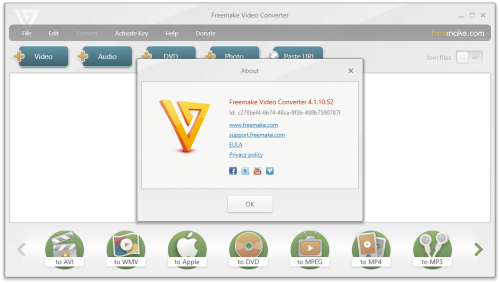 Freemake Video Converter Gold 4.1.10.52 Keygen Free Download