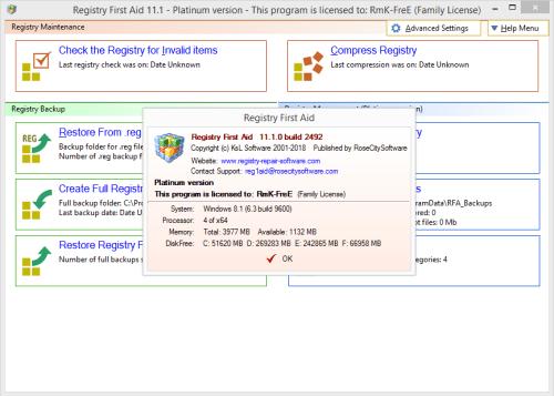 Registry First Aid Platinum 11.1.0.2492 Keygen & Activator Download