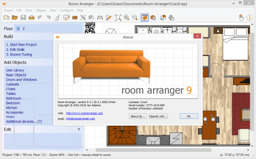 Room Arranger 9.5.1.606 Full Keygen & Activator Download