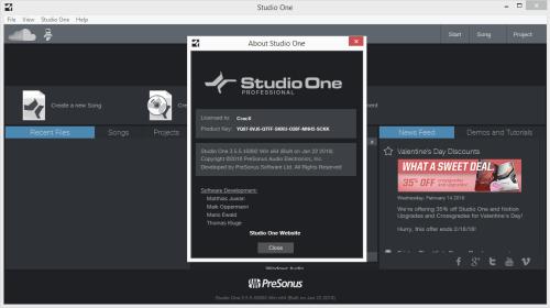 Studio One Pro 3.5.5.45892 Keygen & Activator Download
