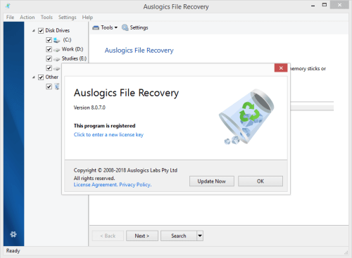 Auslogics File Recovery 8.0.7 Keygen & Activator Download