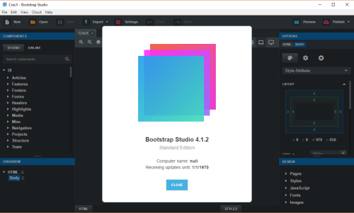 bootstrap studio download free