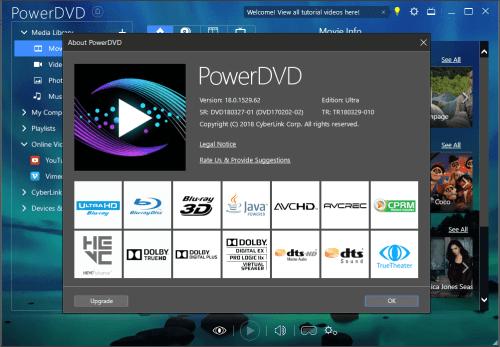 CyberLink PowerDVD Ultra 18.0.1529.62 + Keygen {2018} Download