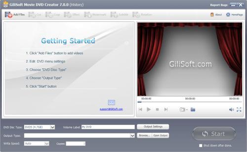 GiliSoft Movie DVD Creator 7.0.0 Patch & License Key Download
