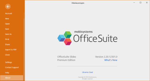 OfficeSuite Premium Edition 2.20.12301.0 License Key Download