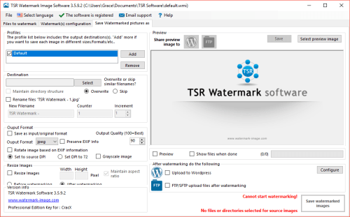 TSR Watermark Image Pro 3.5.9.2 Patch & License Key Download