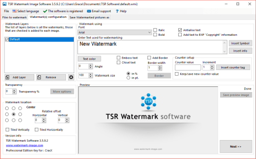 TSR Watermark Image Pro 3.5.9.2 Serial Key + Patch Download