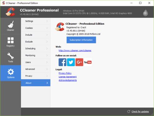 CCleaner Pro 5.45.6611 Full Keygen & Activator Download