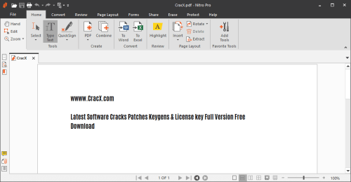 Nitro Pro Enterprise 12.0.0.113 Crack & License Key Download